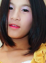 Teen ladyboy Crystal takes her first cock