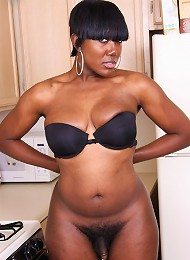Hot black BBW shemale with great tits!