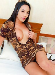 See militant ladyboy getting ass pounded