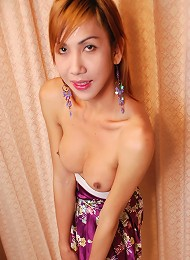 Sexy ladyboy strips and shows off tattoos