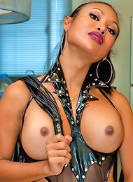See what May does with her high powered dildo drill.